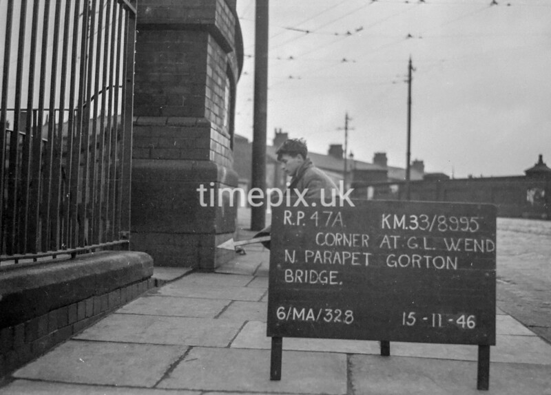 SJ899547A, Ordnance Survey Revision Point photograph in Greater Manchester