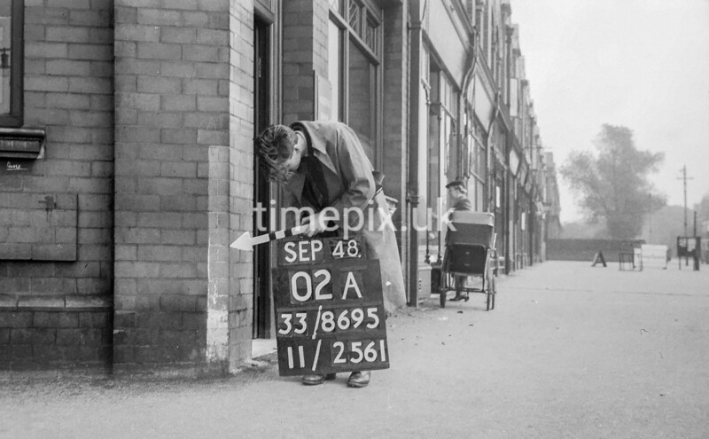 SJ869502A, Ordnance Survey Revision Point photograph in Greater Manchester