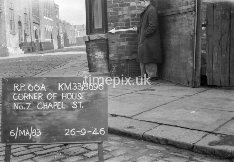 SJ869666A, Ordnance Survey Revision Point photograph in Greater Manchester