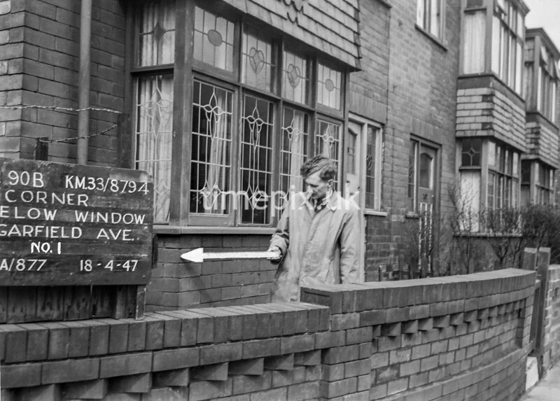 SJ879590B, Ordnance Survey Revision Point photograph in Greater Manchester