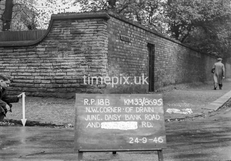 SJ869518B, Ordnance Survey Revision Point photograph in Greater Manchester