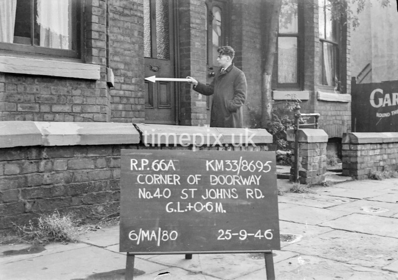 SJ869566A, Ordnance Survey Revision Point photograph in Greater Manchester