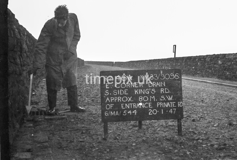 SJ909646A, Ordnance Survey Revision Point photograph in Greater Manchester
