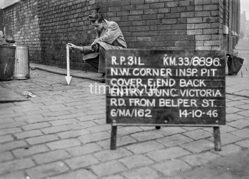 SJ889631L, Ordnance Survey Revision Point photograph in Greater Manchester
