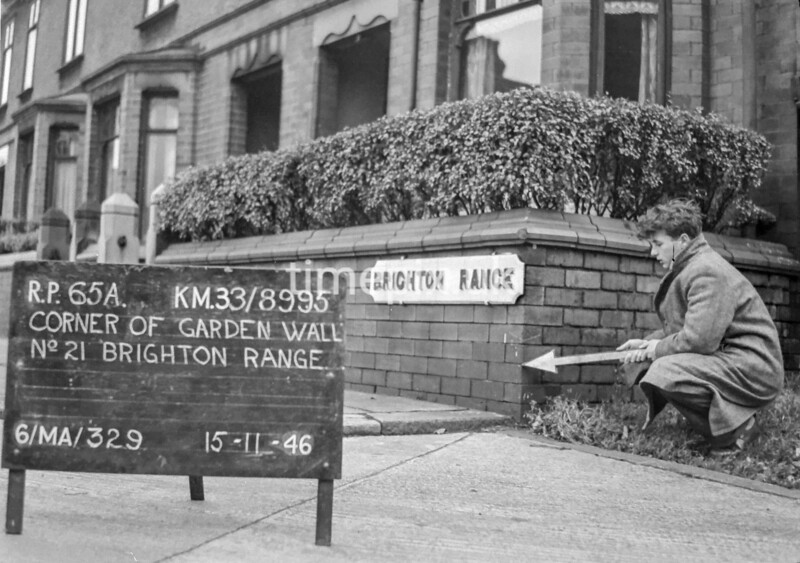 SJ899565A, Ordnance Survey Revision Point photograph in Greater Manchester