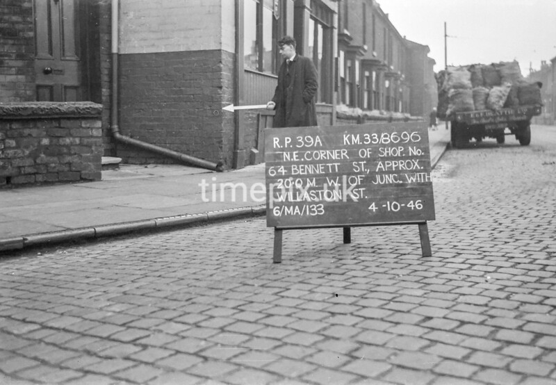 SJ869639A, Ordnance Survey Revision Point photograph in Greater Manchester