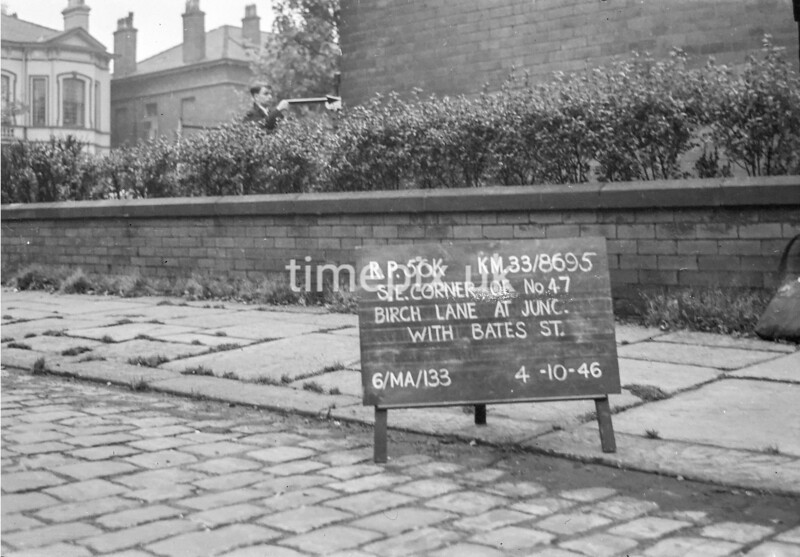 SJ869556K, Ordnance Survey Revision Point photograph in Greater Manchester