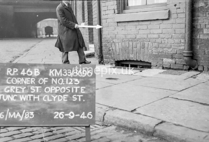 SJ869646B, Ordnance Survey Revision Point photograph in Greater Manchester