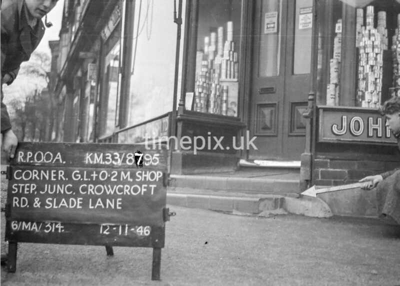 SJ879500A, Ordnance Survey Revision Point photograph in Greater Manchester