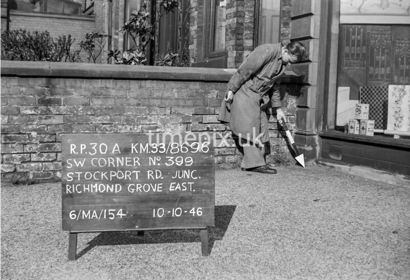 SJ869630A, Ordnance Survey Revision Point photograph in Greater Manchester