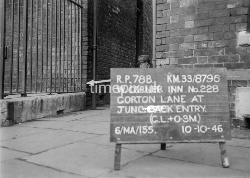 SJ879678B, Ordnance Survey Revision Point photograph in Greater Manchester