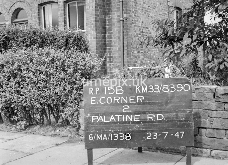SJ839015B, Ordnance Survey Revision Point photograph in Greater Manchester