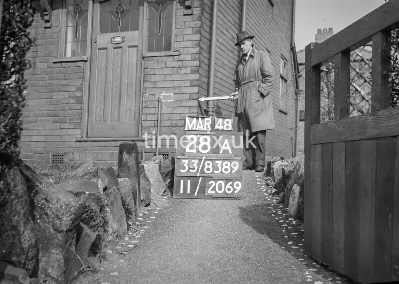 SJ838928A, Ordnance Survey Revision Point photograph in Greater Manchester