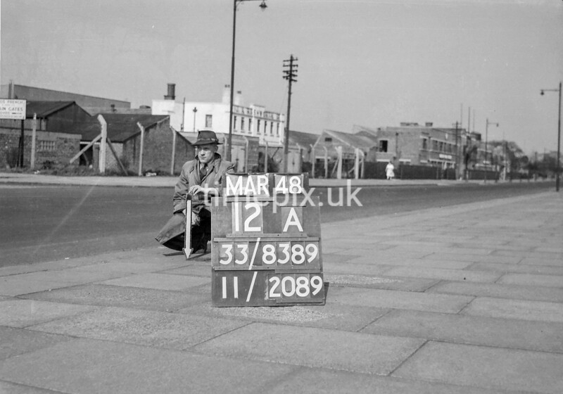 SJ838912A, Ordnance Survey Revision Point photograph in Greater Manchester