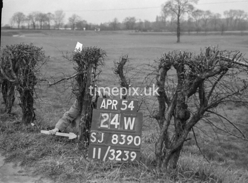 SJ839024W, Ordnance Survey Revision Point photograph in Greater Manchester