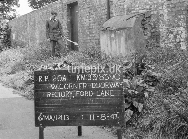 SJ839020A, Ordnance Survey Revision Point photograph in Greater Manchester
