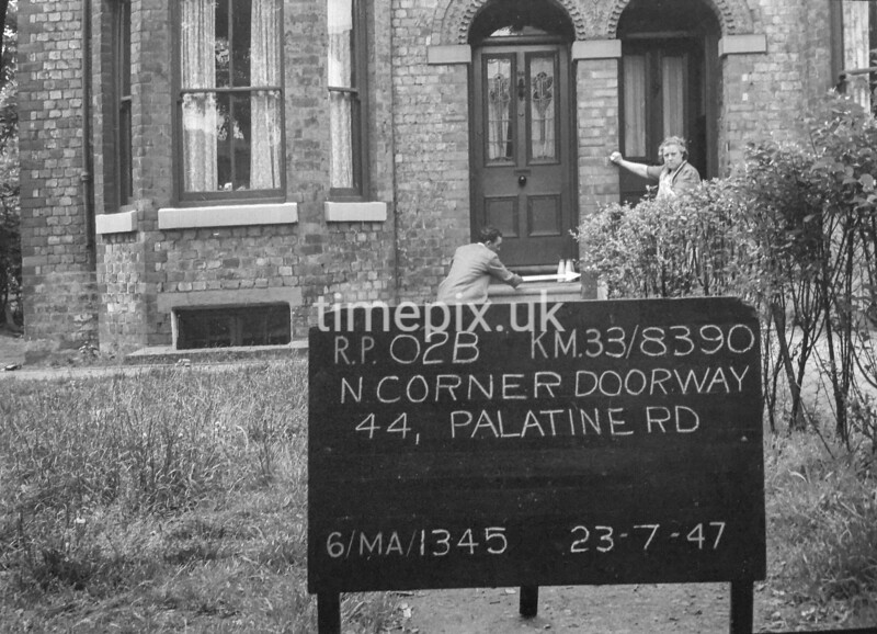SJ839002B, Ordnance Survey Revision Point photograph in Greater Manchester