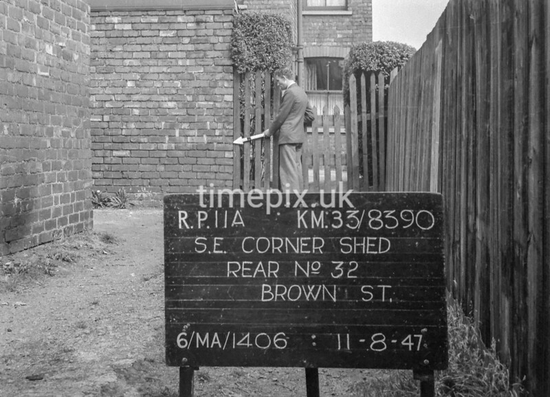 SJ839011A, Ordnance Survey Revision Point photograph in Greater Manchester
