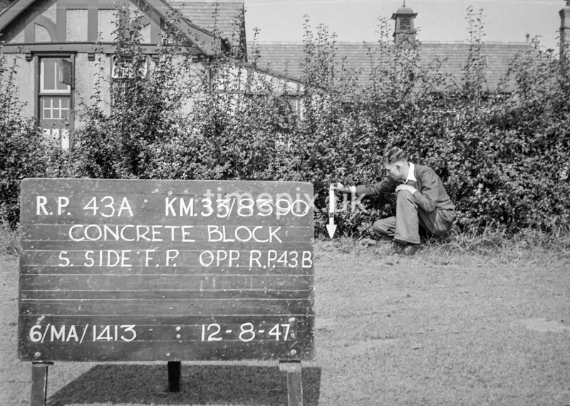 SJ839043A, Ordnance Survey Revision Point photograph in Greater Manchester