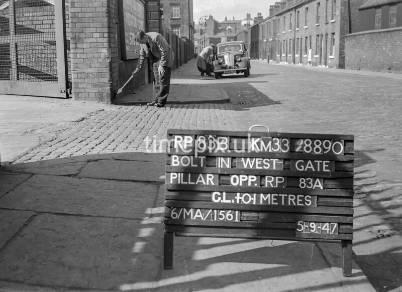 SJ889083B, Ordnance Survey Revision Point photograph in Greater Manchester