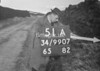 SD990751A, Man marking Ordnance Survey minor control revision point with an arrow in 1950s