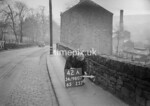 SD980742A, Man marking Ordnance Survey minor control revision point with an arrow in 1950s