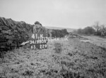 SD980641K, Man marking Ordnance Survey minor control revision point with an arrow in 1950s