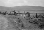 SD990910R, Man marking Ordnance Survey minor control revision point with an arrow in 1950s