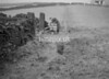 SD980645B, Man marking Ordnance Survey minor control revision point with an arrow in 1950s