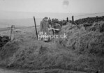 SD990859A1, Man marking Ordnance Survey minor control revision point with an arrow in 1950s