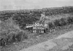 SD990650A2, Man marking Ordnance Survey minor control revision point with an arrow in 1950s