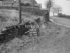 SD980665B, Man marking Ordnance Survey minor control revision point with an arrow in 1950s