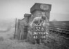 SD990432B, Man marking Ordnance Survey minor control revision point with an arrow in 1950s