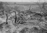 SD950301B, Man marking Ordnance Survey minor control revision point with an arrow in 1950s