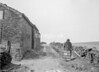 SD941304A, Man marking Ordnance Survey minor control revision point with an arrow in 1950s
