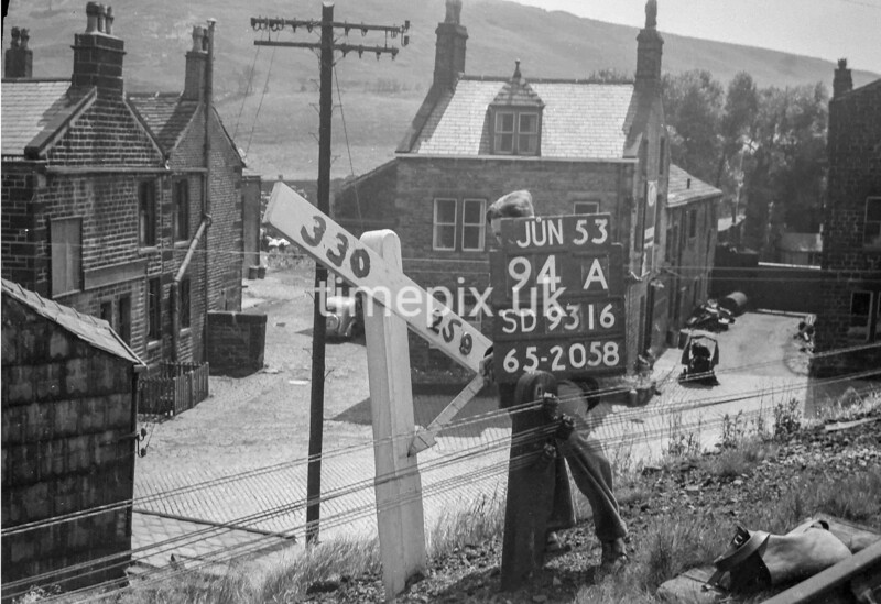 SD931694A, Ordnance Survey Revision Point photograph in Greater Manchester