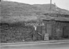 SD941867B, Man marking Ordnance Survey minor control revision point with an arrow in 1950s