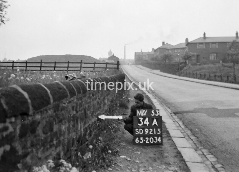SD921534A, Ordnance Survey Revision Point photograph in Greater Manchester