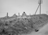 SD951615B, Man marking Ordnance Survey minor control revision point with an arrow in 1950s
