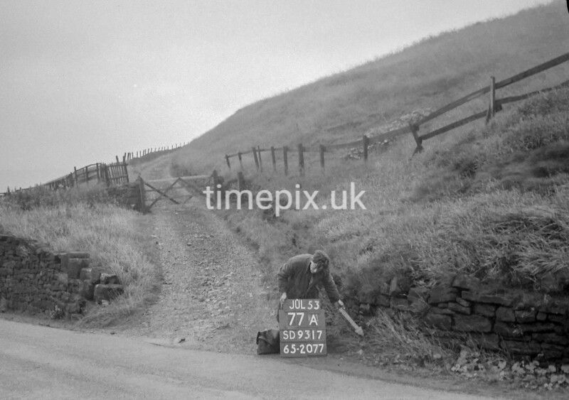 SD931777A, Ordnance Survey Revision Point photograph in Greater Manchester