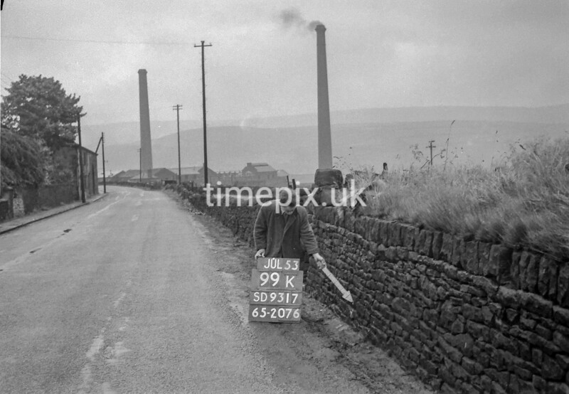SD931799K, Ordnance Survey Revision Point photograph in Greater Manchester