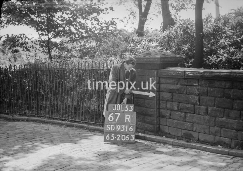 SD931667R, Ordnance Survey Revision Point photograph in Greater Manchester
