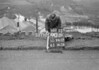 SD941290B, Man marking Ordnance Survey minor control revision point with an arrow in 1950s