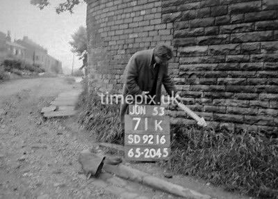 SD921671K, Ordnance Survey Revision Point photograph in Greater Manchester