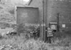 SD941794K, Man marking Ordnance Survey minor control revision point with an arrow in 1950s