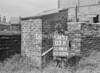 SD941603B, Man marking Ordnance Survey minor control revision point with an arrow in 1950s