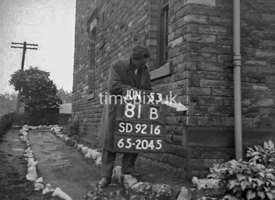 SD921681B, Ordnance Survey Revision Point photograph in Greater Manchester