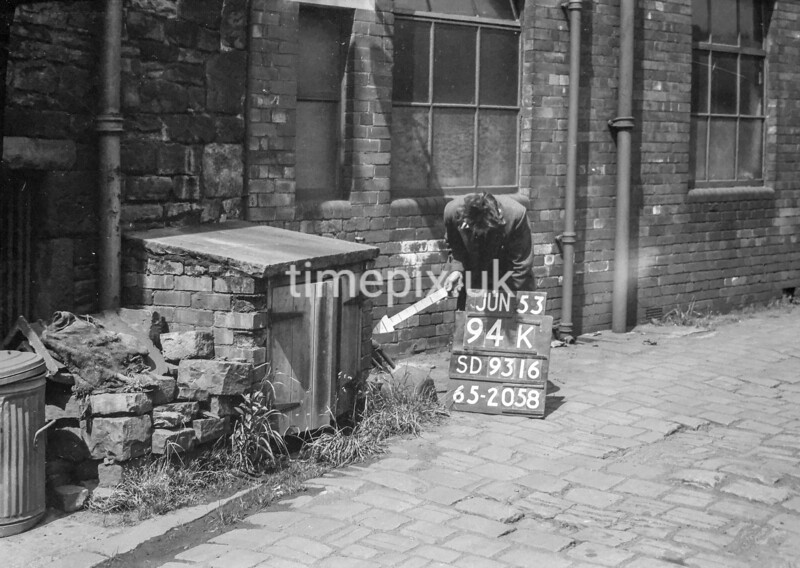 SD931694K, Ordnance Survey Revision Point photograph in Greater Manchester