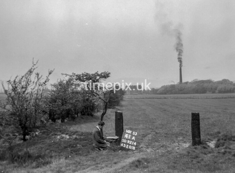 SD921441A, Ordnance Survey Revision Point photograph in Greater Manchester