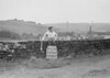 SD941763B, Man marking Ordnance Survey minor control revision point with an arrow in 1950s